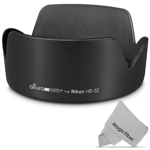 (Nikon HB-32 Replacement) Altura Photo Lens Hood for Nikon 18-140mm f/3.5-5.6G ED VR, 18-135mm f/3.5-5.6G IF-ED, 18-105mm f/3.5-5.6G ED VR, 18-70mm f/3.5-4.5G IF-ED Nikkor DX Lenses