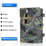 "LESHP Game and Trail Camera 12MP 1080P HD With Time Lapse 65ft 120¡ã Wide Angle Infrared Night Vision 42pcs IR LEDs Waterproof IP66 2.4"" LCD Screen Scouting Camera Deer Camera Digital Surveillance"