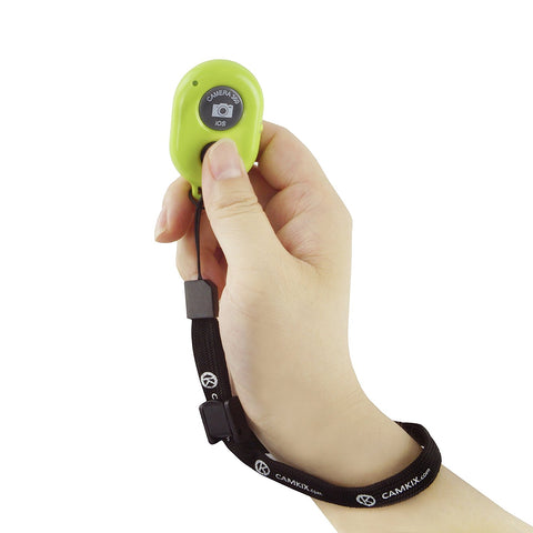 CamKix Bluetooth Camera Shutter Remote Control for Smartphones – Create Amazing Photos and Selfies (Bluetooth Remote, Green)