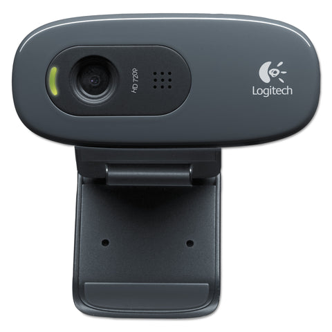 Logitech C270 HD Webcam, 720p, Black