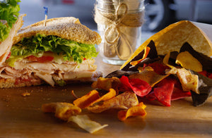 Turkey Berry Sandwich with chips