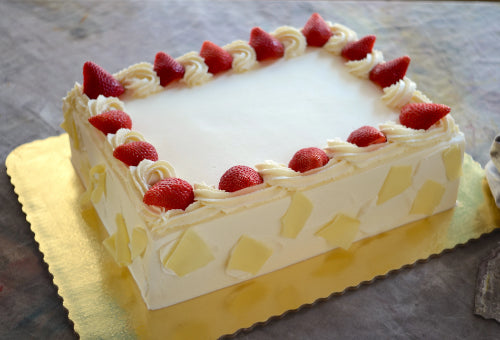Strawberry White Chocolate Cake