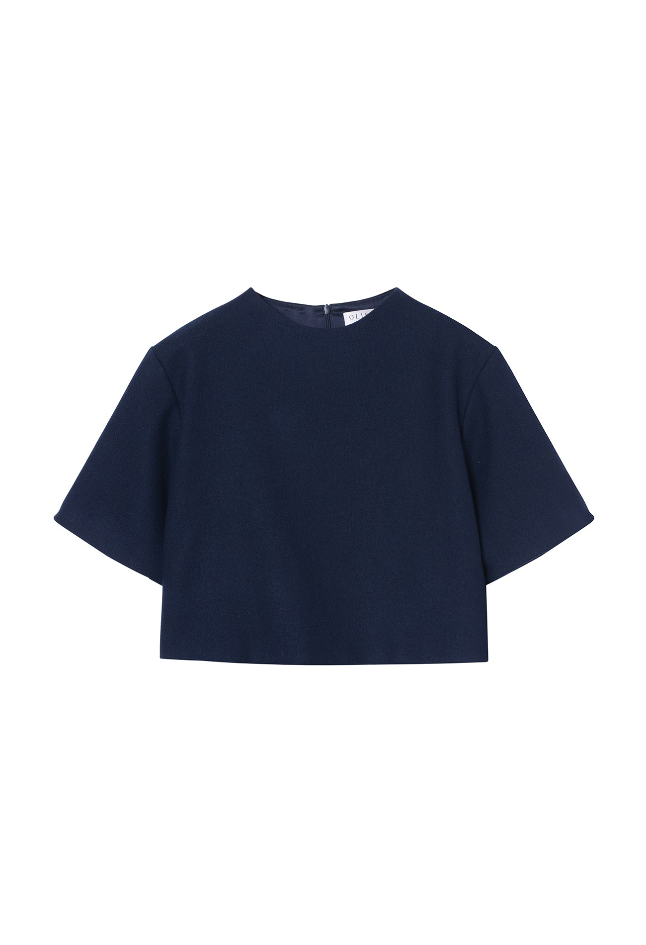Ara Crop Top Navy
