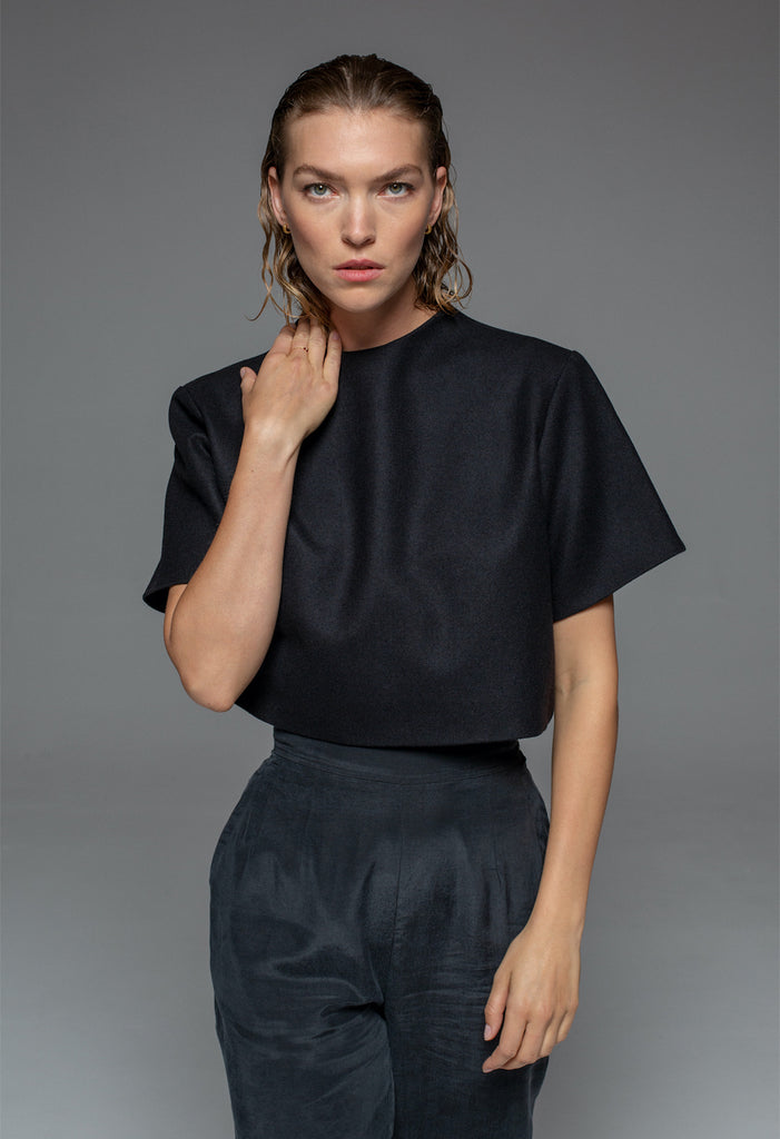 Ara Crop Top Black