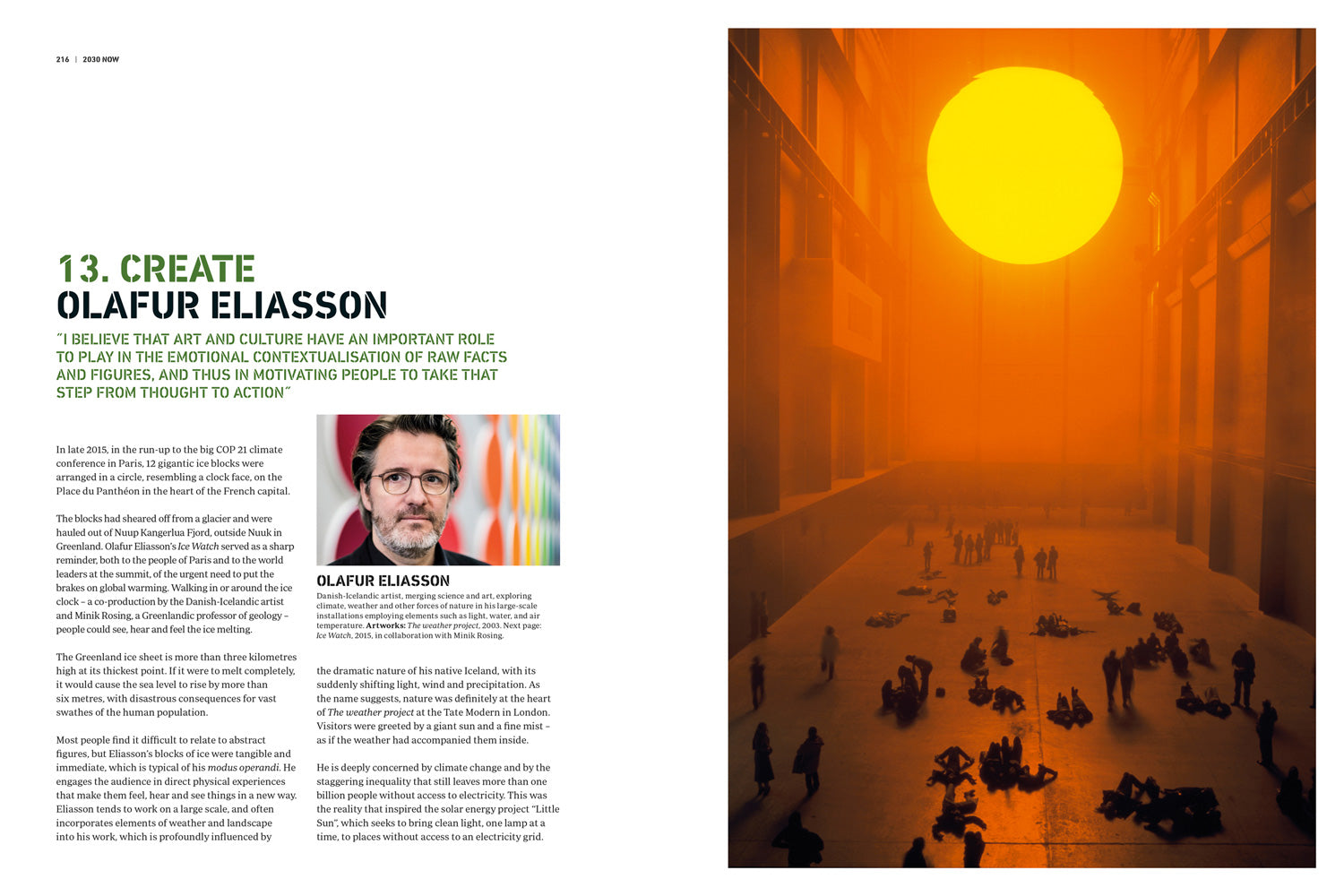 Extract of the book : text on Olafur Eliasson