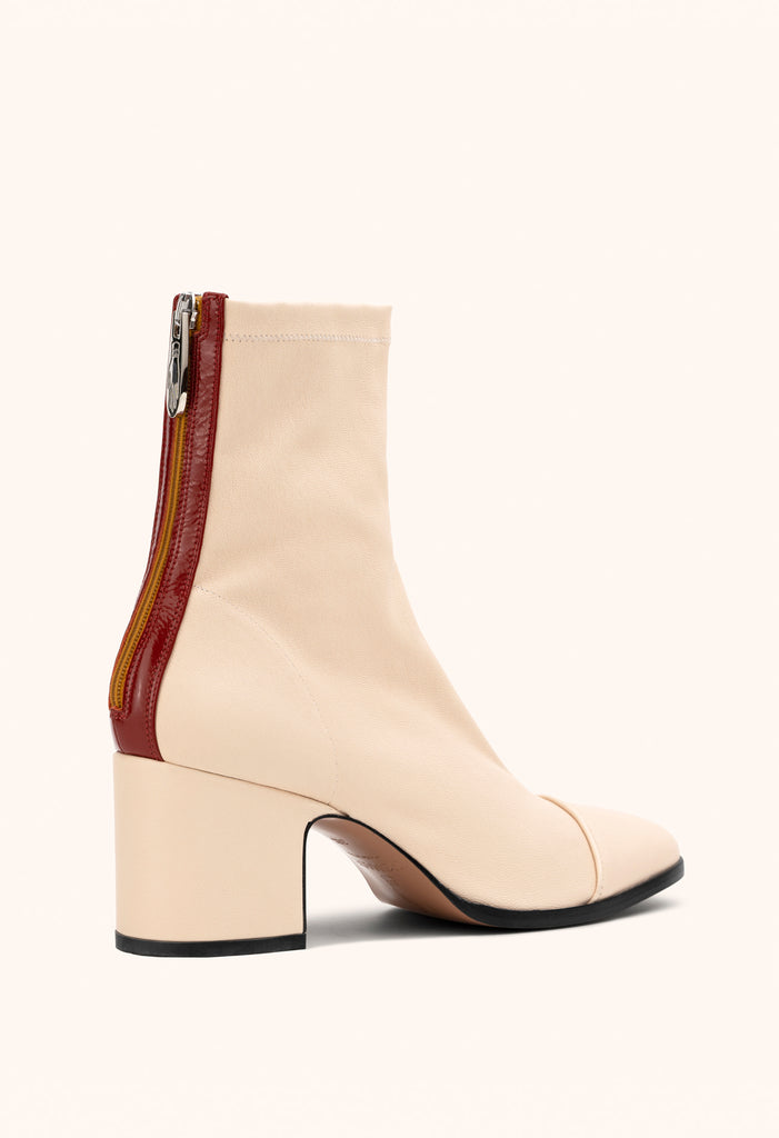 Aria ankle boots in Pompeii white stretch nappa
