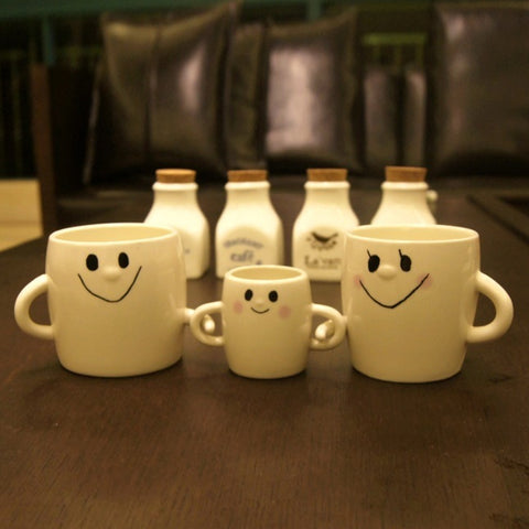Cute Smile Family Cup Set