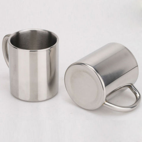 Double-Layer Stainless Steel Espresso Mug