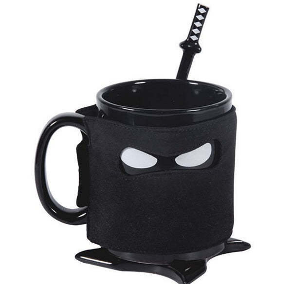 Creative Ninja Mug Black Mask Ceramic Mug
