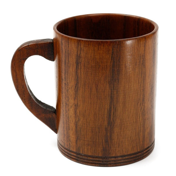 Retro-style Wooden Natural Mug