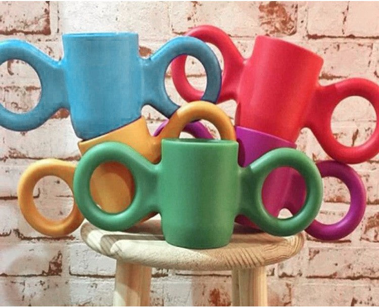 Colorful Plastic Cup With Two Handles For Kids