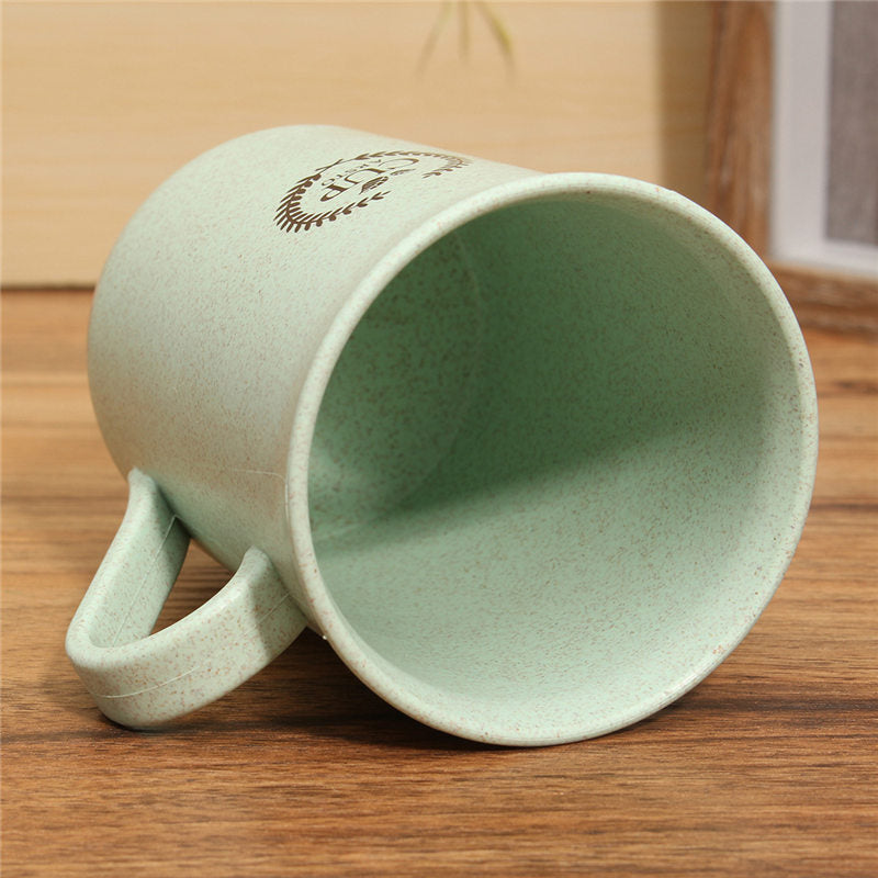 Stylish 320ml Wheat Straw Coffee Mugs