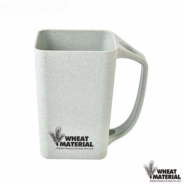 Natural Wheat Straw Fiber Plastic Mug