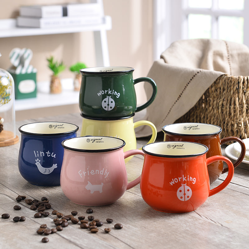 1pc High Quality Soup Latte Ceramic Tea Coffee Mugs