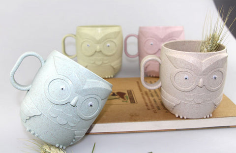 Owl shape Wheat Straw Mug