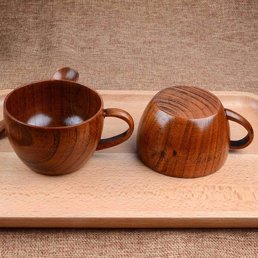 Wooden Crafted Tea Cup