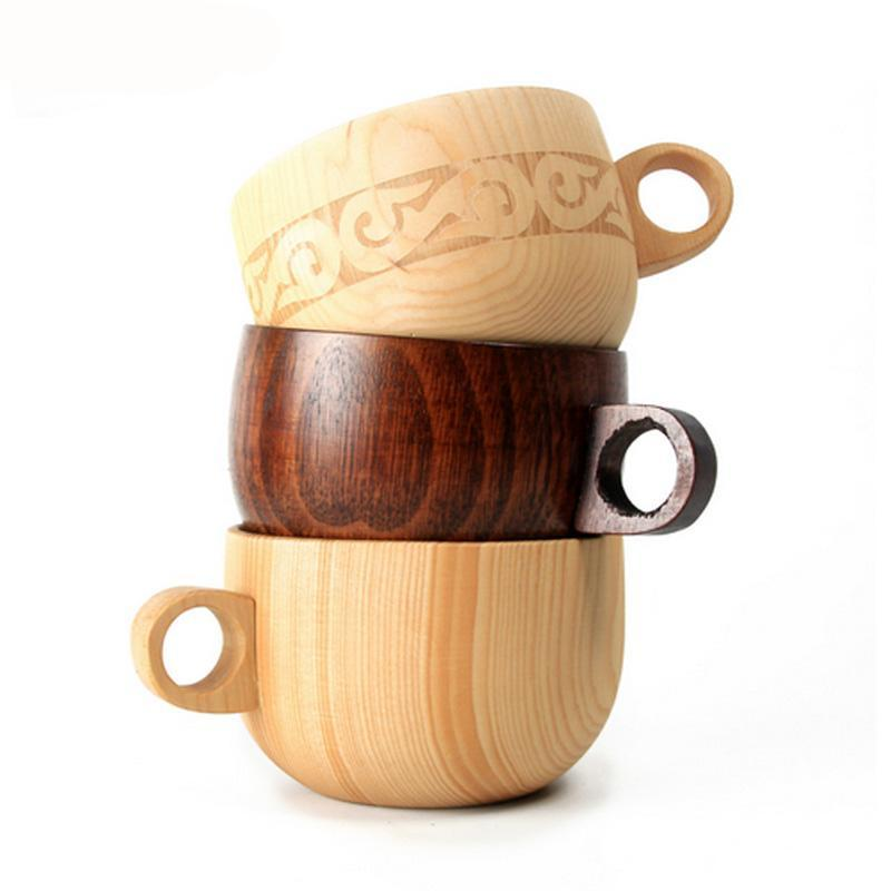 Natural Spruce Wood coffee mug