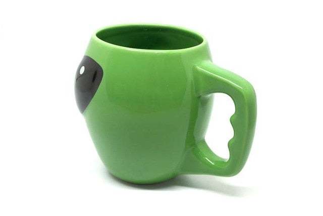 Green Alien ceramic mug