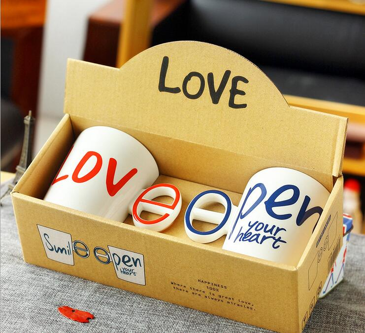 2pcs LOVE&SMILE Coffee Mug