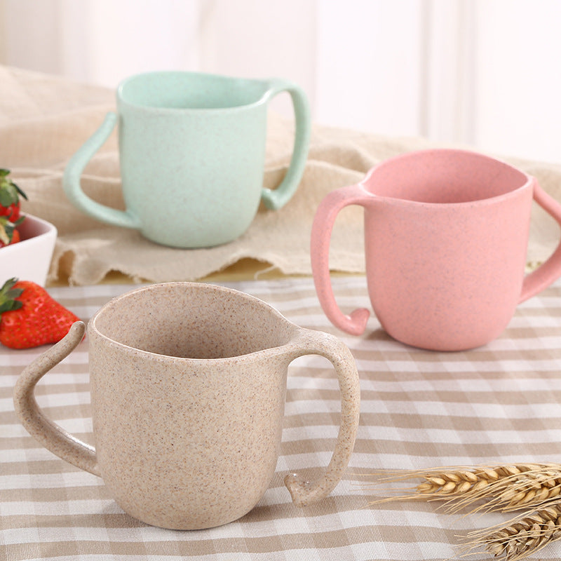 Wheat Straw Double Handle Eco Mug