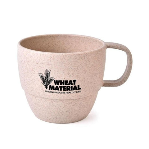200ml Wheat Straw Round Cup Eco-friendly Material