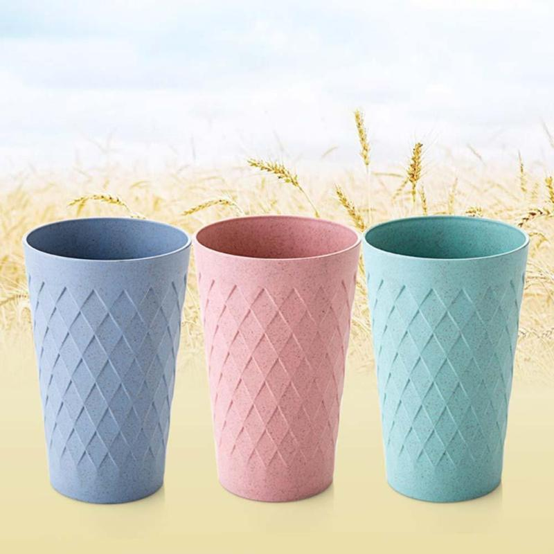 Wheat Straw Round Plastic Cup