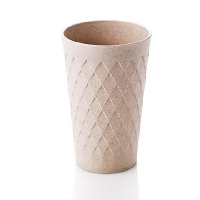 Wheat Straw Round Plastic Tumblers tooth Mugs