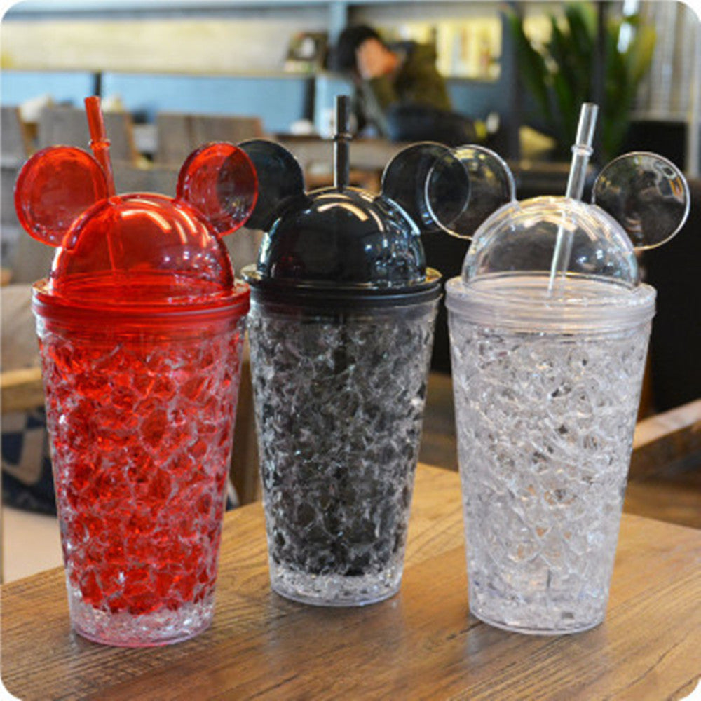 Cute In Fashion Big Ears Mouse Cartoon Ice Cup