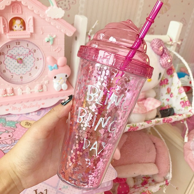 Glittery Double Layer Bling Bling Mug