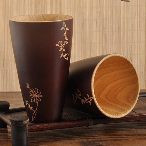Traditional Natural Wooden Mug