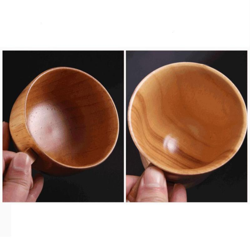 1PC Round Wooden Coffee Cup Handmade