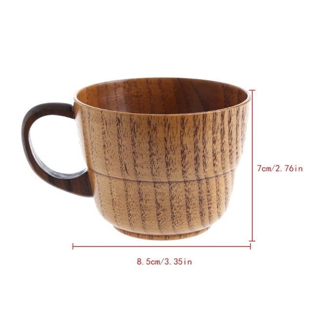 Primitive Handmade Natural Wood Mug