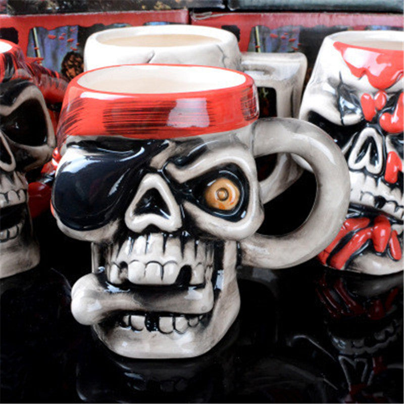 Pirate Skull Coffee Cup