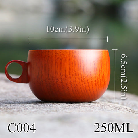 Natural Wooden Mug With Handle