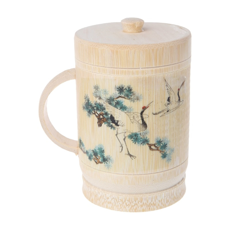 Traditional Chinese Painting Bamboo Teacups