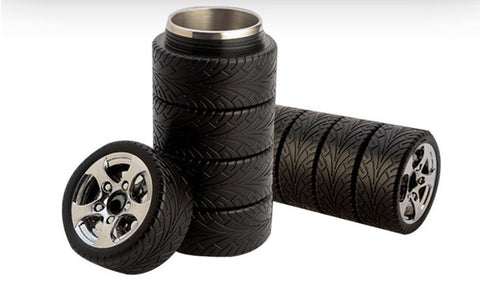 Tire Style Thermos Coffee Mug