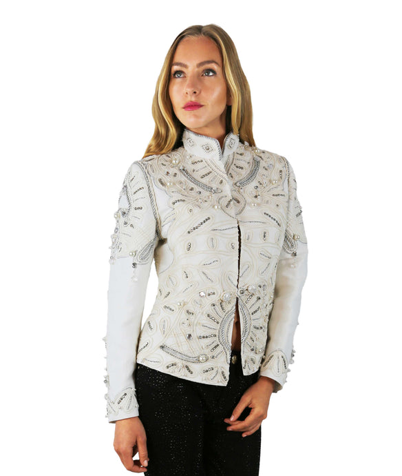 WHITE DECORATED JACKET MELANIA