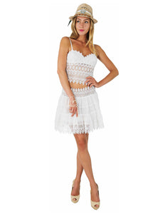 COMBO LACE OPTIC TOP AND SKIRT DIRALINDA