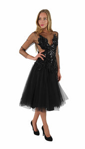 SEQUINS EVENING GOWN CINDERELLA