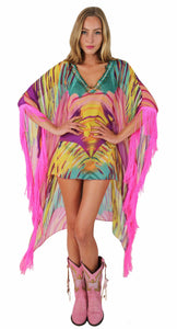 COLORFUL PONCHO ALOUR