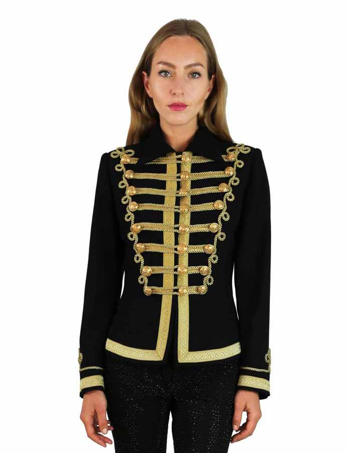 JACKET BARBALISA BLACK GOLD