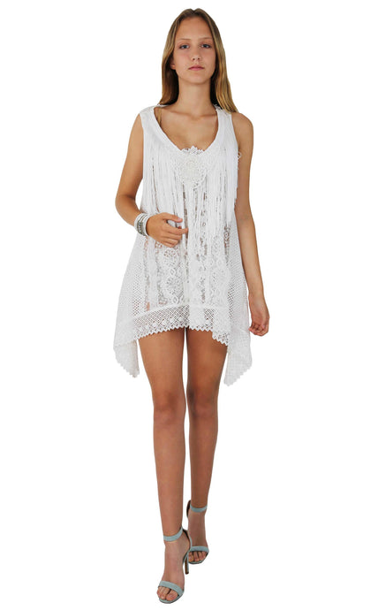 WHITE LACE DRESS LINA