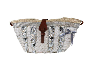 IBIZA WHITE CHRYSTAL BAG MIRANDA