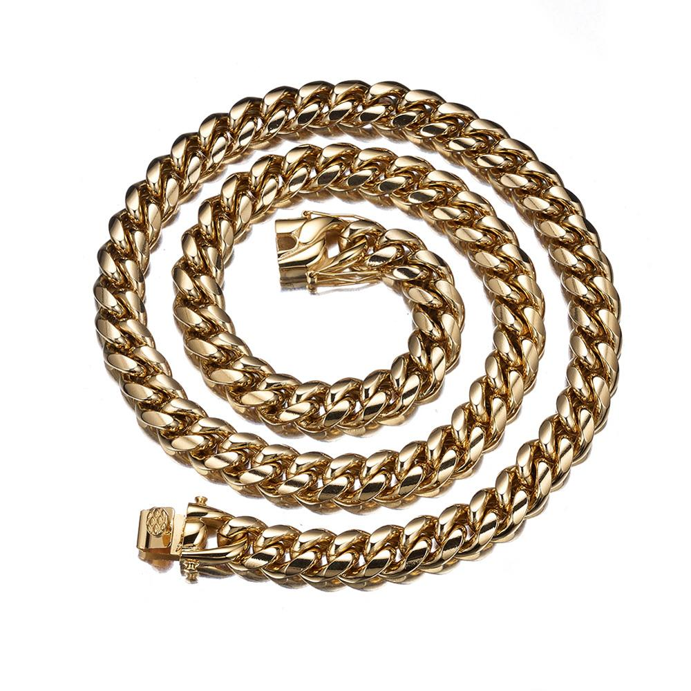 The 18K Cuban Curb Chain - 8mm - 18mm - Mancessorize