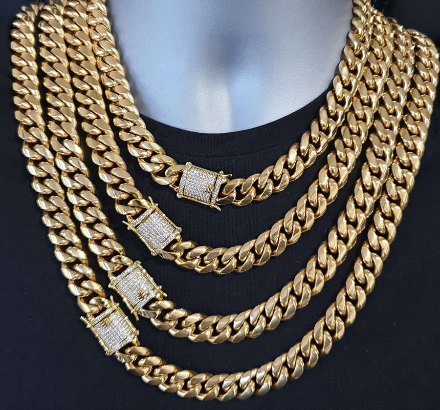 The 14MM 18K Cuban Chain