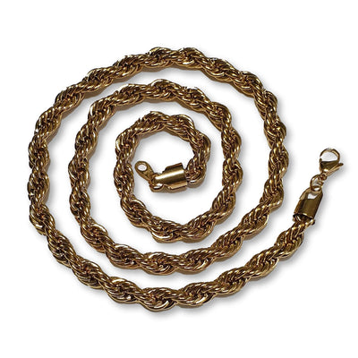 The 18K Gold Plated Stainless Steel Rope Chain