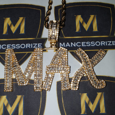 The 24K Gold Plated Baguette Custom Bubble Chain - Mancessorize