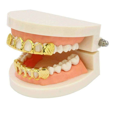 24k Gold Hollow Diamond Cut Grillz - Mancessorize