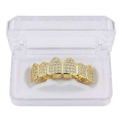 24K Gold Iced Out Grillz - Mancessorize