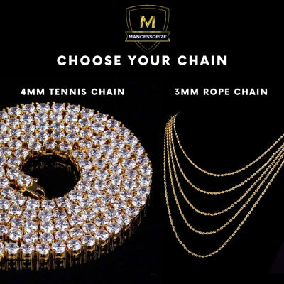 The 18K Gold Tennis Bubble Chain - Mancessorize